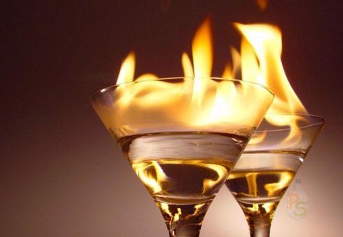 Как горит самогон