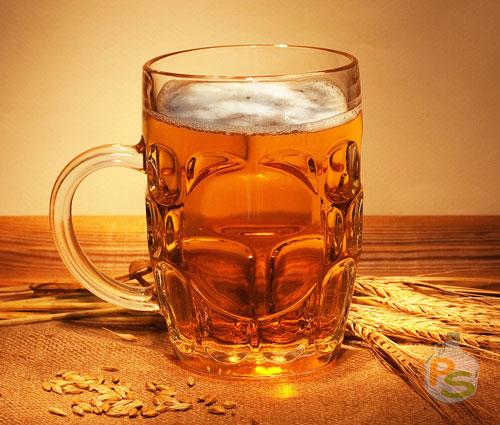 Кружка пива свежего гречневого
