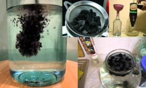 Как очистить самогон углем
