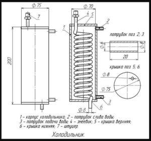 Схема-чертеж холодильника