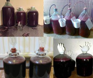 Брожение вина в бутылях.