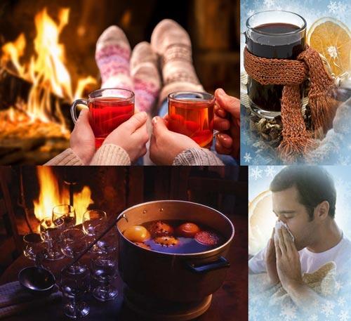 Действие горячего вина при простуде.