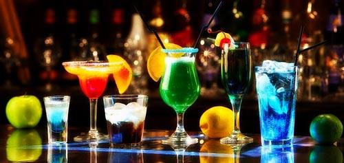 Разные коктейли.