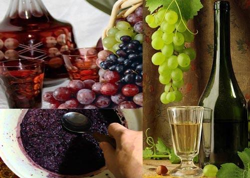 Виноград, самогон, брожение браги.
