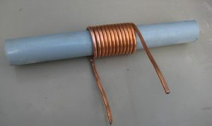 Навивка змеевика на трубу.