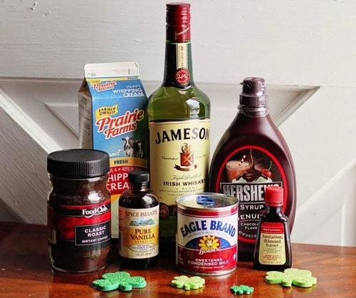 Ингредиенты для ликера бейлиз.