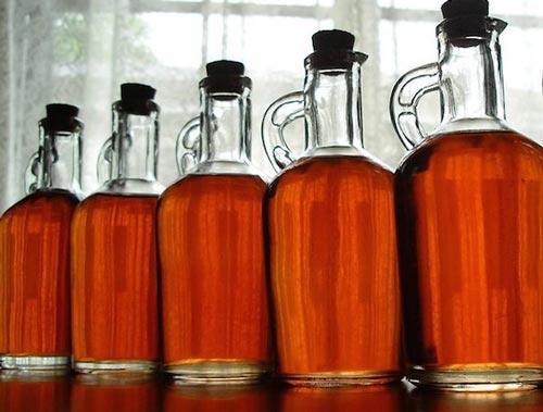 Виски в бутылках.